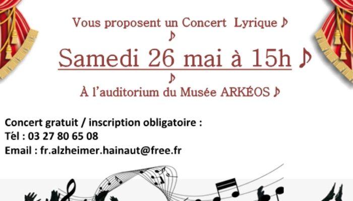Music'O Séniors et France Alzheimer : concert lyrique le 26 mai à 15H – ARKEOS