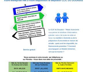 Aidants familiaux et activités professionnelles : le CLIC au service des Aidants comme des Aidés