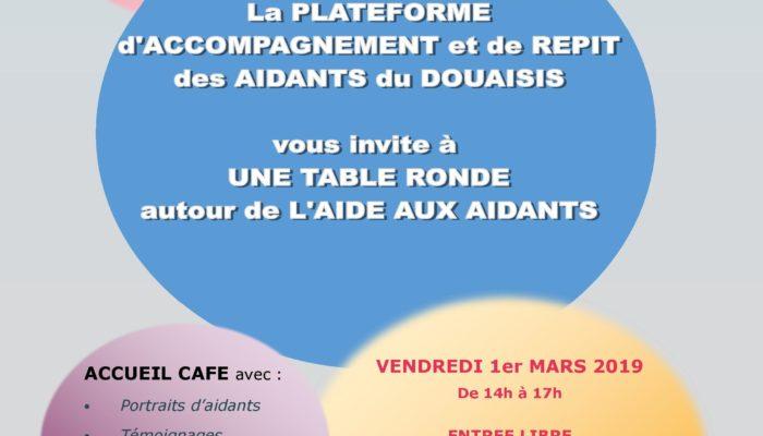 Plateforme d'Accompagnement et de Répit des Aidants – Orchies, vendredi 1er mars dès 14H au PACBO – Aidants : Oser en parler pour se faire aider
