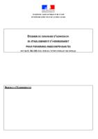 dossier de demande d'entrée en EHPAD