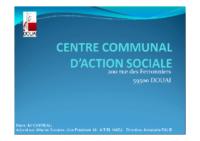 Présentation du réseau des bénévoles CCAS DOUAI pour intervenir à l'extérieur mars 2015