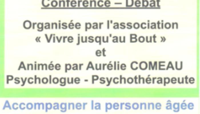 Conférence – Débat organisé par l'association «Vivre jusqu'au Bout» Jeudi 07 Novembre 2019 à 18h30