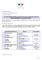 Liste des médecins spécialistes pour les incapables majeurs 30 décembre 2019