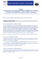 Notice requete habilitation familiale ou protection judiciare