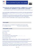 Requete habilitation familiale ou protection judiciaire